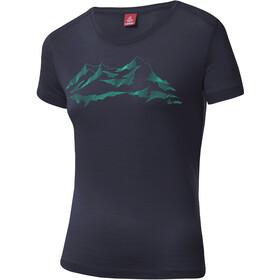Löffler T-shirt à motif Merino Femme, graphite